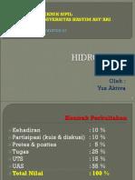 HIDROLOGI Pokok Bahasan I (Yus Aktiva) R2