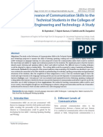 The Relevance of Communication Skills to the Technical Students