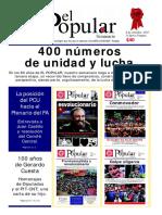 El Popular 400 Órgano de Prensa Oficial del Partido Comunista de Uruguay