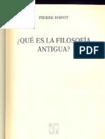 Pierre Hadot - Qué es la filosofía antigua