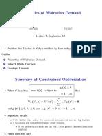 Lecture_05 Properties of Walrasian Demand