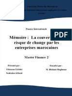 La Couverture Du Risque de Change Par Les Entreprises Marocaines