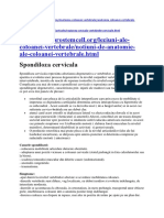 Spondiloza Cervicala Informatii Cumulate