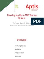 320362910 Developing the APTIS Testing System
