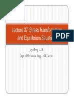 Lecture 07 Stress Transformn Equm Eqns
