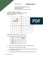 CXC Revision Test 1