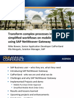 2514 Transform Complex Processes in SAP Into Simplified Workflows on Mobile Devices Using SAP NetWeaver Gateway