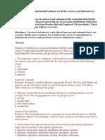 50 Item Gastrointestinal Health Problems Test Drill Keys