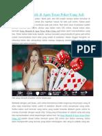 Yang Menarik Di Agen Texas Poker Uang Asli