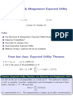 Lecture_12 Von Neumann & Morgenstern Expected Utility