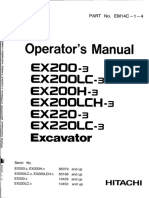 EX200-3 Operator's Manual