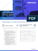 Konsus Powerpoint Cheatsheet