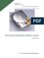 How Secure File Deletion Softwares Work