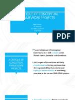 A Critique of Conceptual Framework Projects