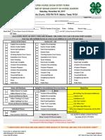 Open Show Entry Form & Class List