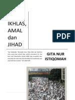 Fahm, Ikhlas, Amal Dan Jihad
