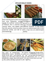 Popular Malay Dishes