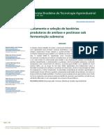Isoalamento de Microrganismos - Amilase