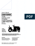 Craftsman Lawn Tractor Model # 917272073 Owner's Manual