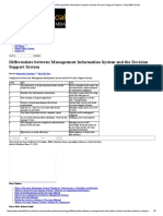Differentiate Between Management Information System and the Decision Support System _ Total MBA Guide