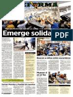 PRIMERAS PLANAS prensa de MÉXICO después del SISMO 7.1  20 Sep 2017
