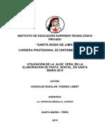 244033583 FINAL PROYECTO Elaboracion de Pasta Dental Con Aloe Vera Docx