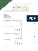 Matriz de Rigidez - Armadura - 3 Tramos Sucesivos (0)