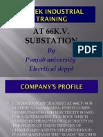 Sub Station Training Report