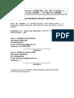 Ficha de Inscrição Bienal