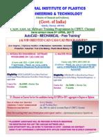 Cadcamcae Course Cipet Chennai 03-04-2017