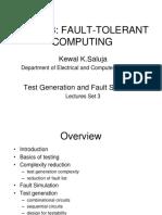 Fault tolerent computing