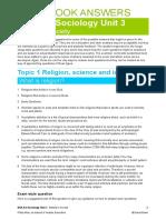 Sociol AQA A2 Unit 3 Workbook Answers