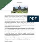 Candi Prambanan Merupakan Candi Hindu Yang Terbesar Di Indonesia