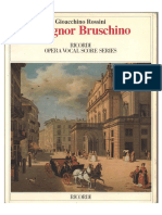 Rossini - Il Signor Bruschino - Vocal Score