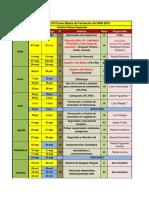 2. Cronograma Curso de Formacion GRA 2016