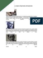Hombres y Mujeres Importantes de Guatemala