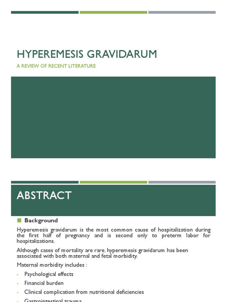 Hyperemesis Gravidarum Presentation Nausea Clinical Medicine