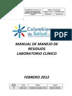 Manual Manejo de Residuos Lab