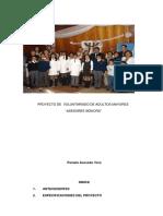 """PROYECTO DE  VOLUNTARIADO DE ADULTOS MAYORES   """"ASESORES SENIORS"""""""