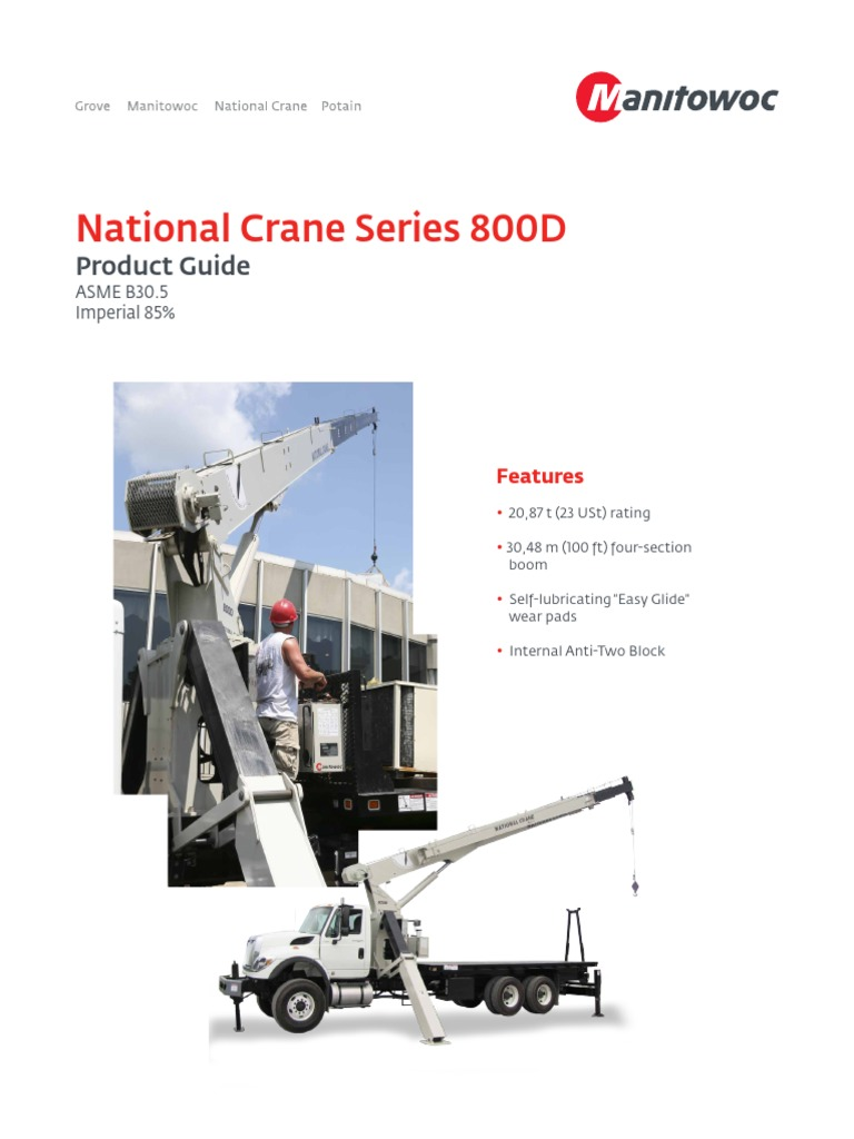 National Crane 800D.pdf | Crane (Machine) | Truck on