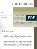 Project on Language Barrier in colleges