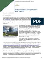 ConJur - Constituição Permite Contratar Advogado Sem Licitação, Opina PGR