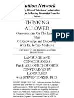 1995 Thinking Allowed Steven Pinker