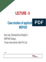 Lecture 9 Case Studies