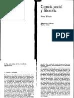 06. Winch - Ciencia Social y Filosofía (Caps. 2 y 3)