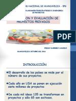 FORMULACION Y EVALUACION DE PROYECTOS PRIVADOS