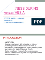 Awareness During Anesthesia