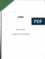 Arvatov Lenguaje Poetico y Lenguaje Practico