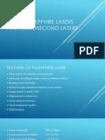 Titanium Sapphire Lasers and Femtosecond Lasers