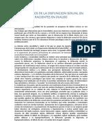 Trastornos de La Disfuncion Sexual en Pacientes en Dialisis